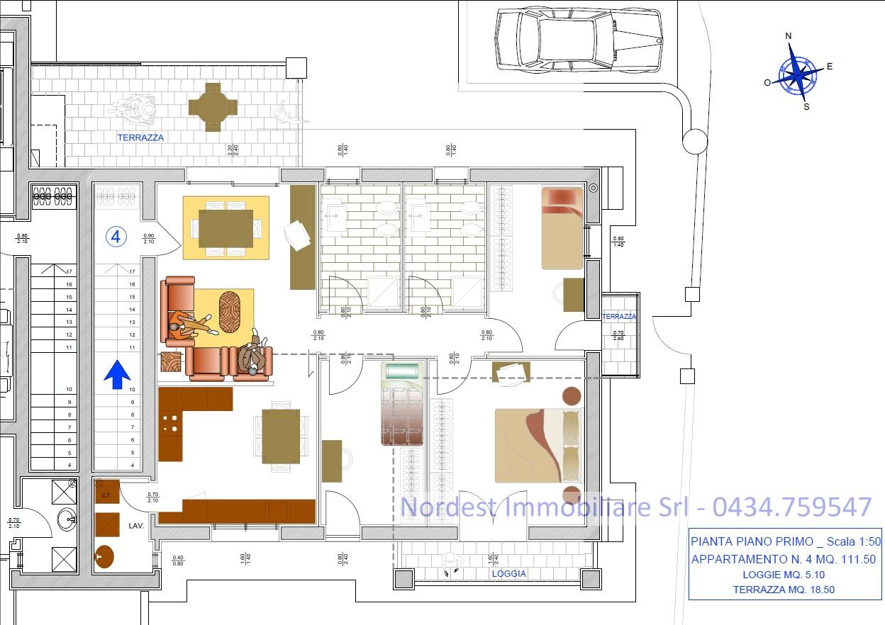 Appartamento con terrazzo a Santa Lucia di Piave